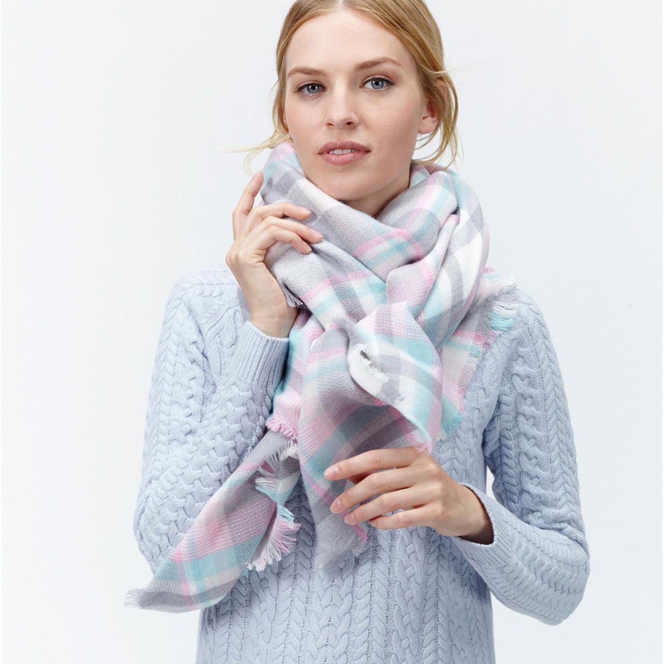 the joules journal 6 ways to wear an oversized scarf