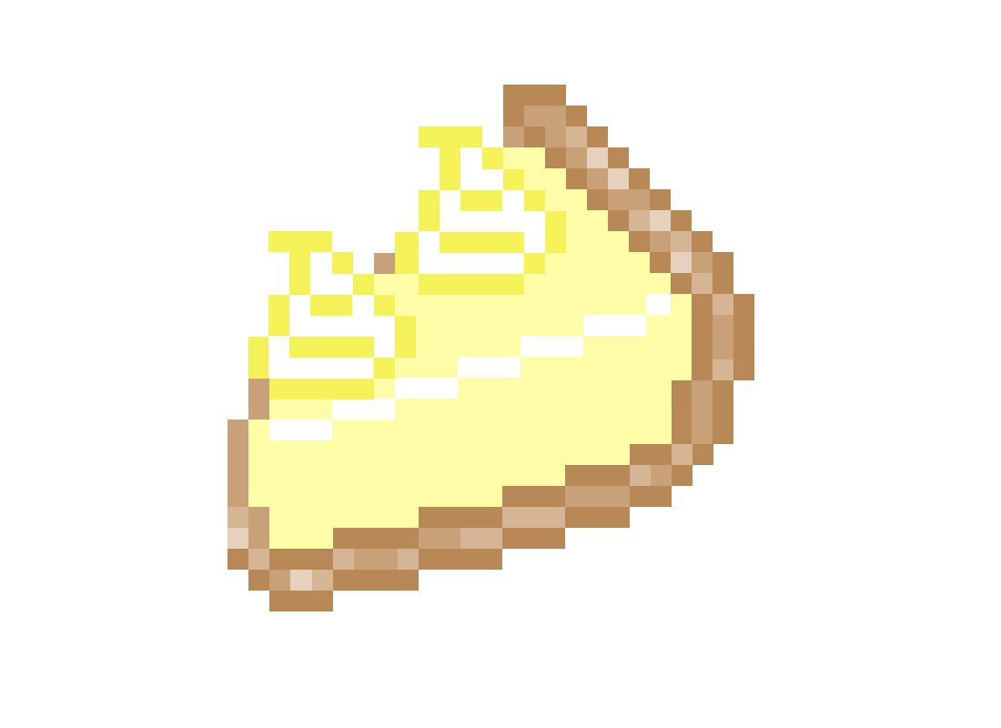 pixel image of lemon meringue pie