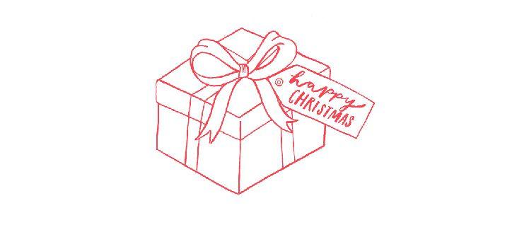 illustration of christmas gift