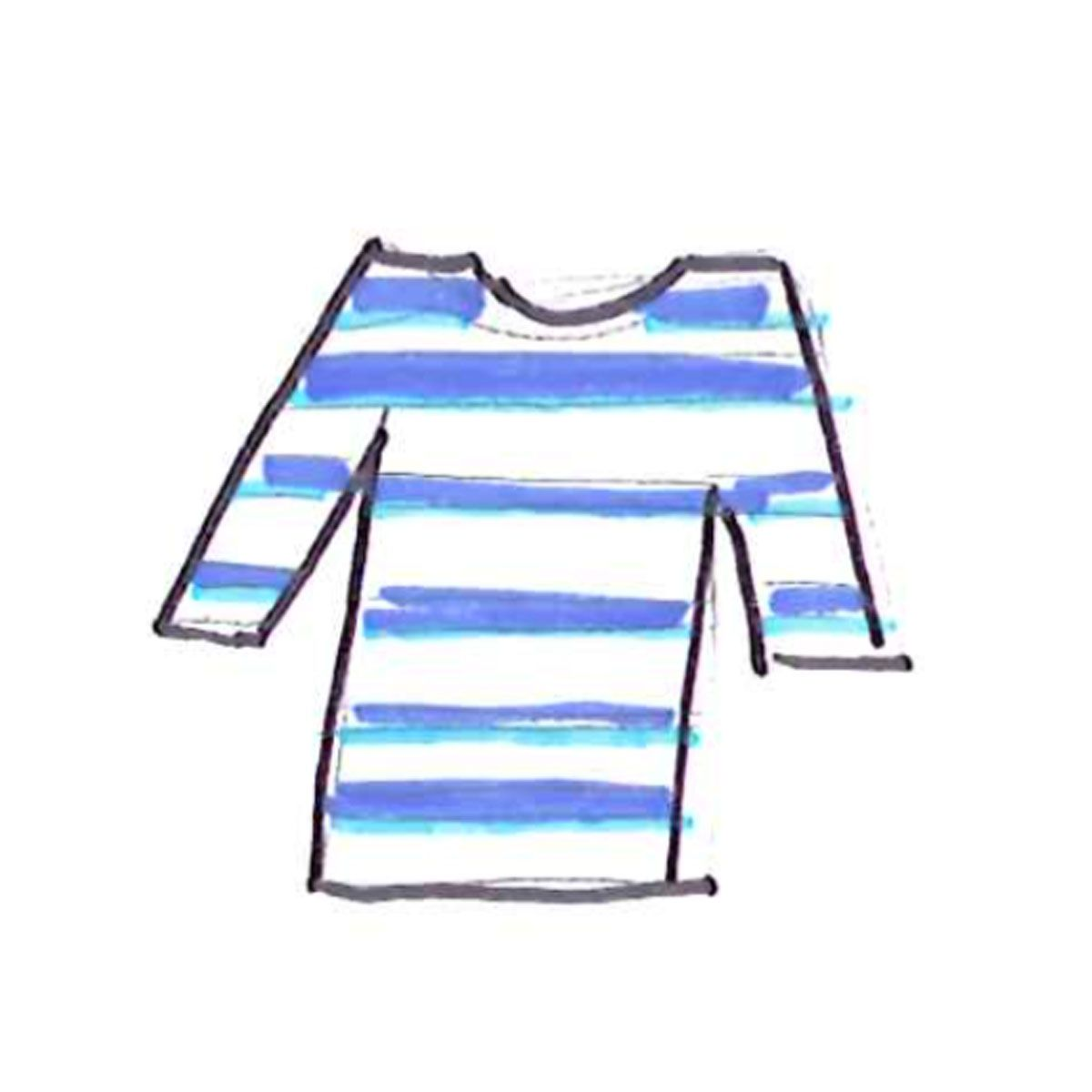 illustration of joules breton top