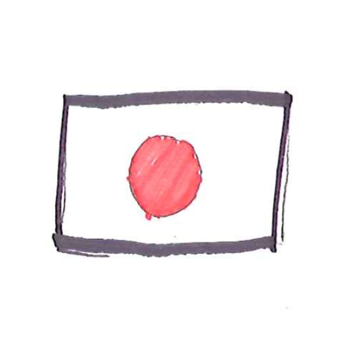 illustration of Japanese flag