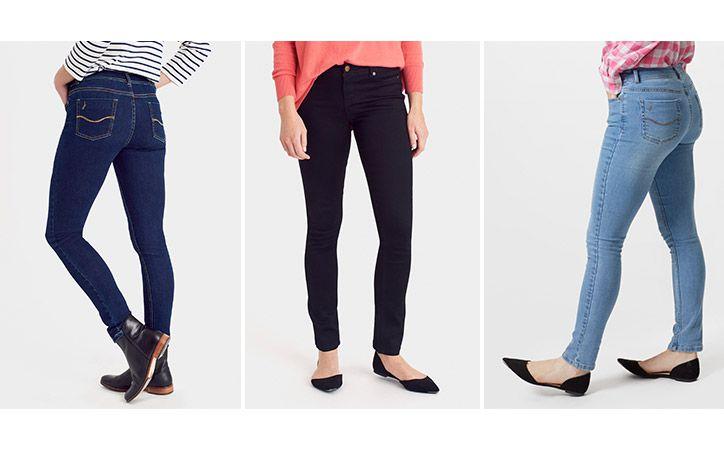 joules range of coloured denim skinny jeans
