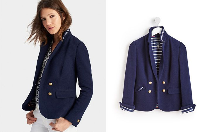 joules navy buttoned tailored blazer