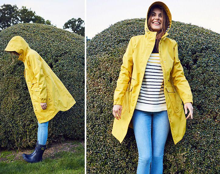 joules coastline yellow waterproof jacket