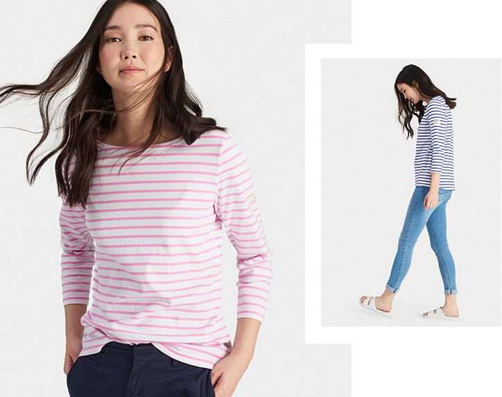 joules harbour striped breton top