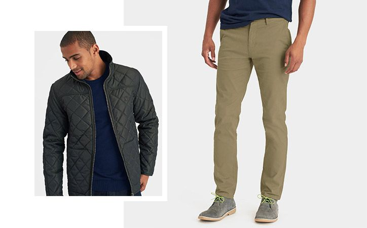 joules quilted coat and chinos
