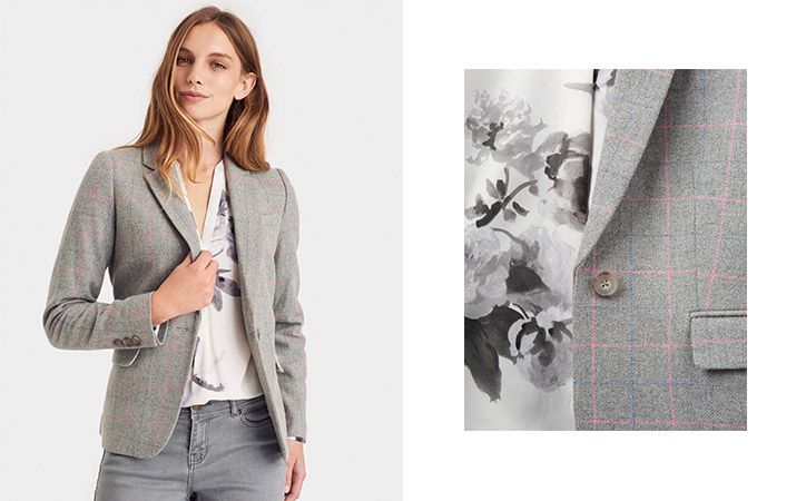 joules grey marl tailored blazer