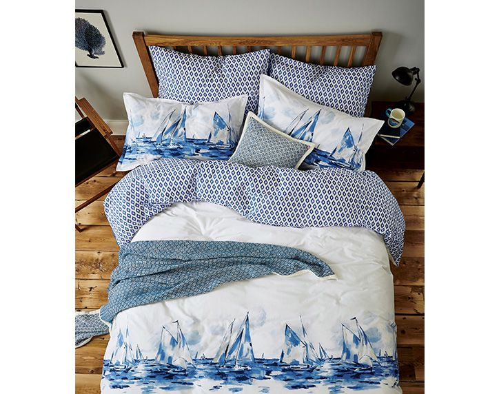 joules sail boat printed bedding collection