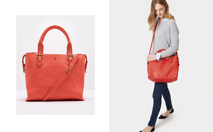 joules leather carryall tote bag
