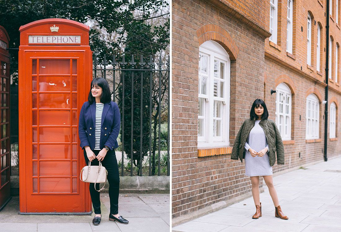 chevrons and eclair fashion and lifestyle blogger models joules transitional dressing pieces in london
