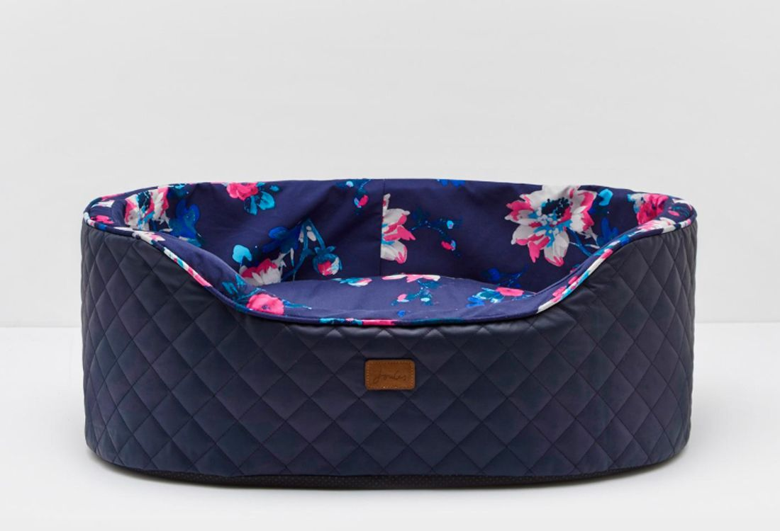 joules printed pet bed