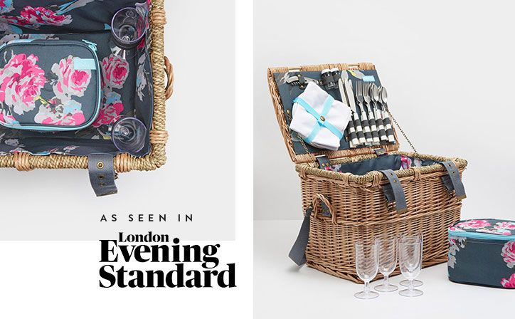 For a day at the races, a lazy afternoon on the beach or a summer evening in a nearby field, our substantial, traditional picnic basket provides all the essentials you'll need for dining outdoors with family and friends.