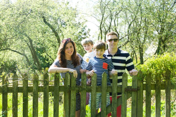 Capture By Lucy Family in striped clothing from Joules