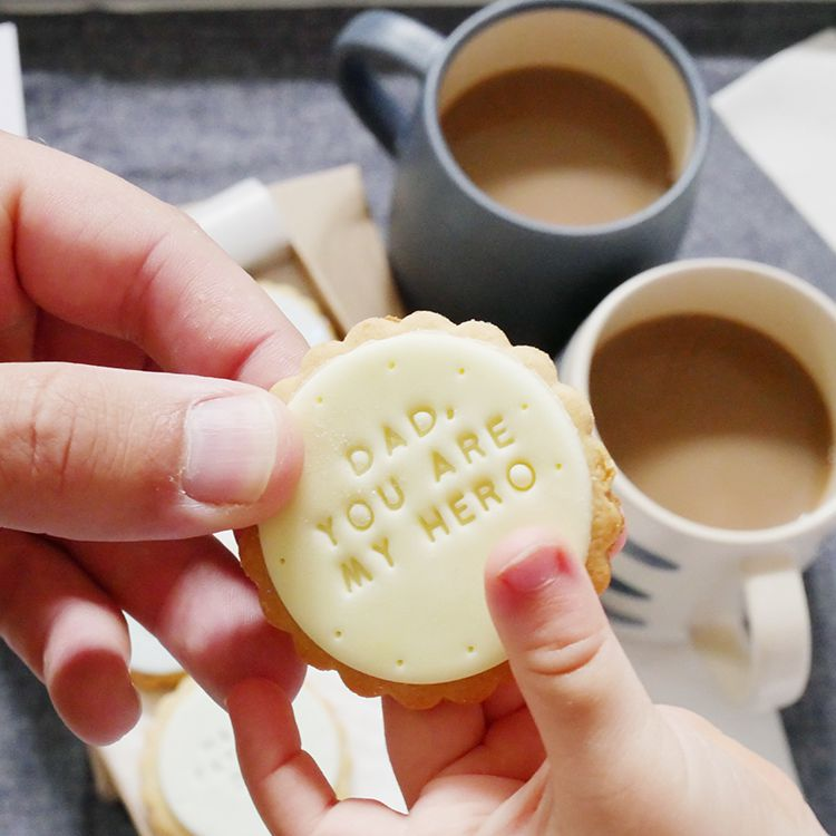personalised father's day biscuits and galley grade mugs