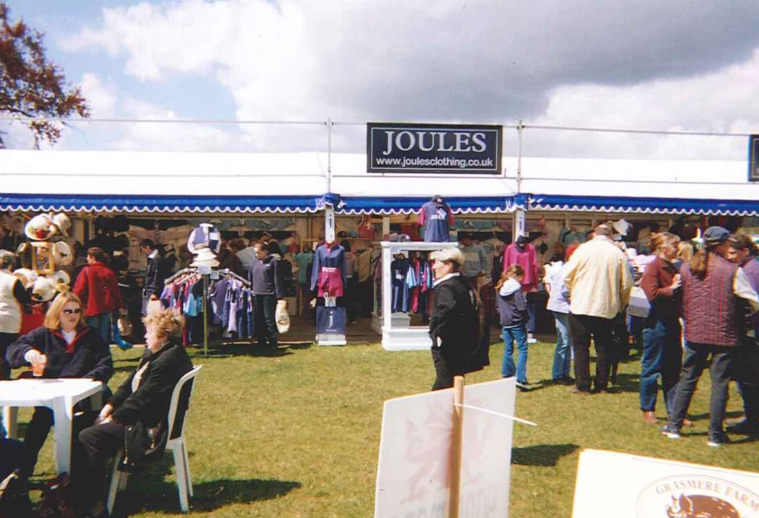 The 1995 Joules Stand at Badminton Horse Trials