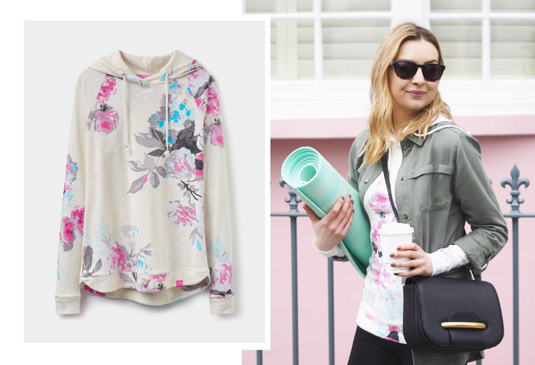 The ever-popular printed Marlston sweatshirt, Cassidy jacket and stylish Holt sunglasses have been given some love by the fabulous Ella Gregory of Coco's Tea Party.