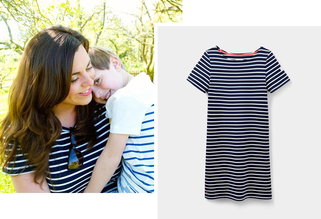 Lucy Heath of Capture by Lucy in our ready-for-the-sun Riviera dress and her son in an Ollie top, clearly they've both earned their stripes.