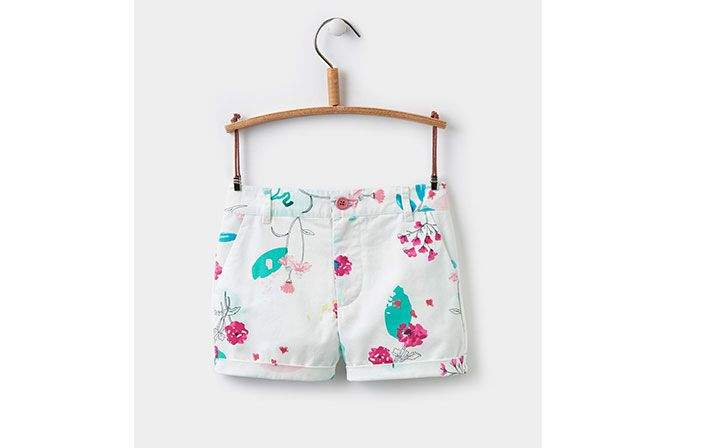 joules girls floral shorts for the summer