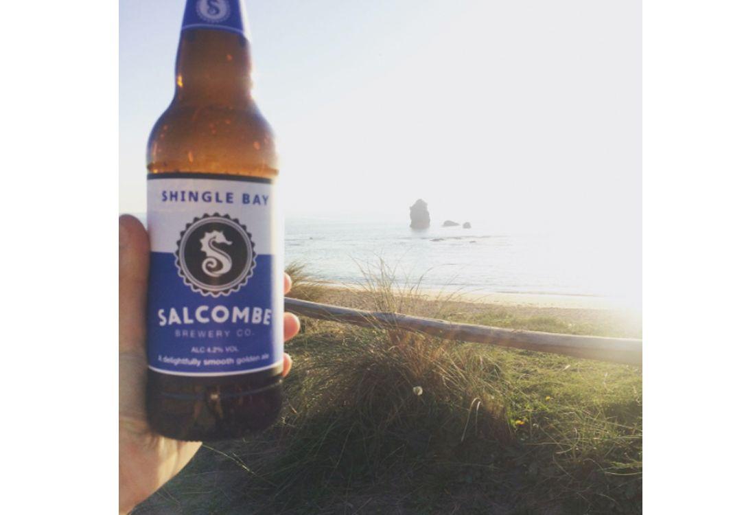 Salcombe shingle bay beer