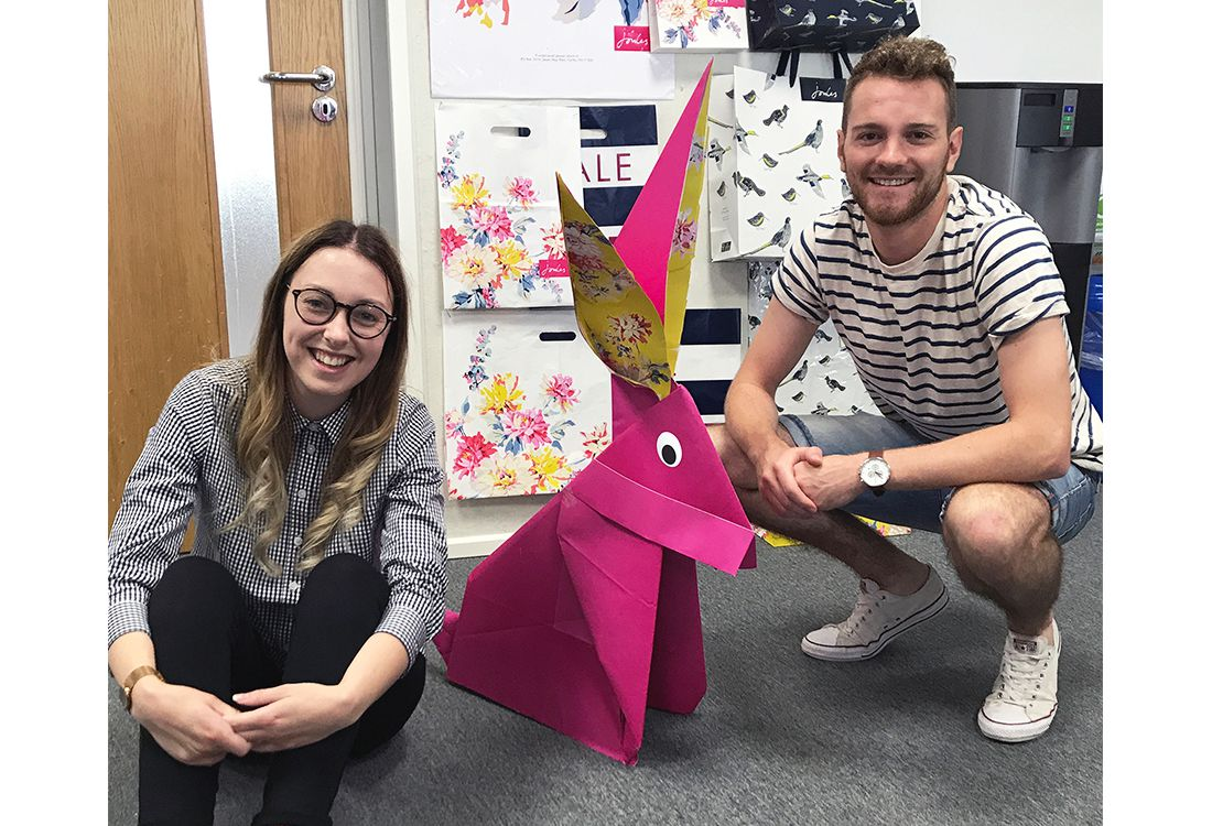 Dan and Rosie from our creative team has made a giant Joules hare