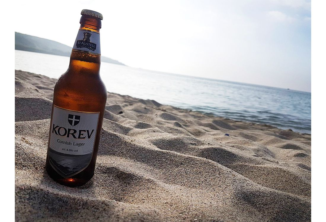 a cold beer on the beach