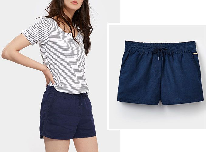 Joules navy robyn shorts perfect for summer festivals