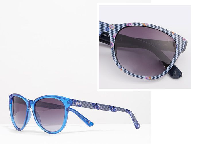 beam sunglasses with floral detail