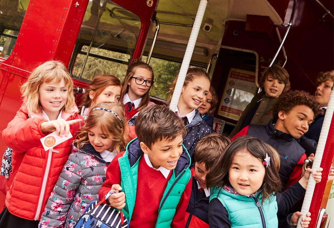 Joules back to school children's packaway jackets