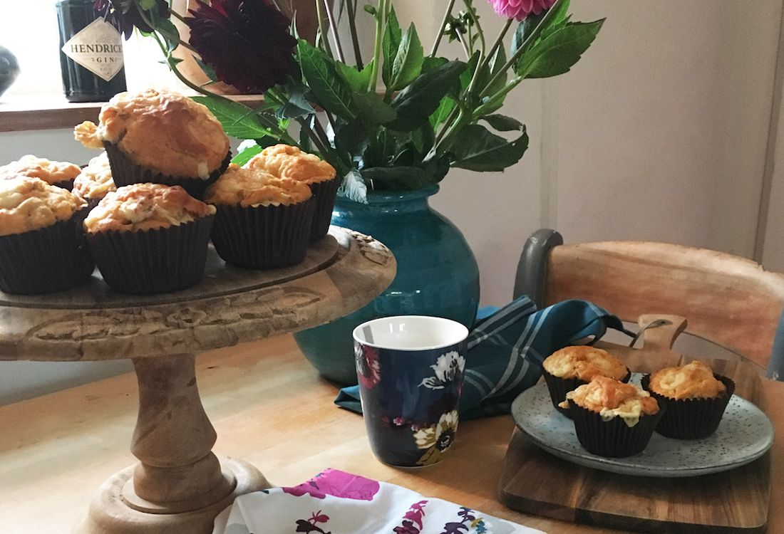 we celebrate afternoon tea week with a cheese and olive muffin recipe to share with your family & friends