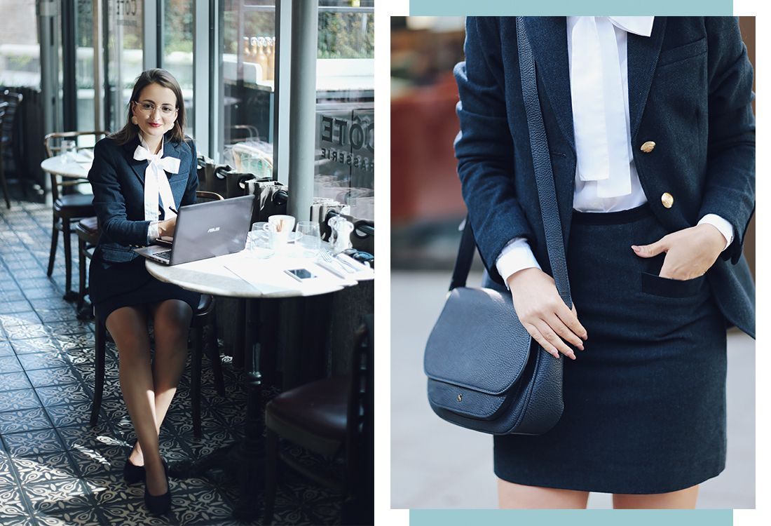 We set the wonderful fashion and lifestyle blogger Andreea behind Launeden the task of putting day to night style into practice with our classic tweed skirt. Here's what she had to say…