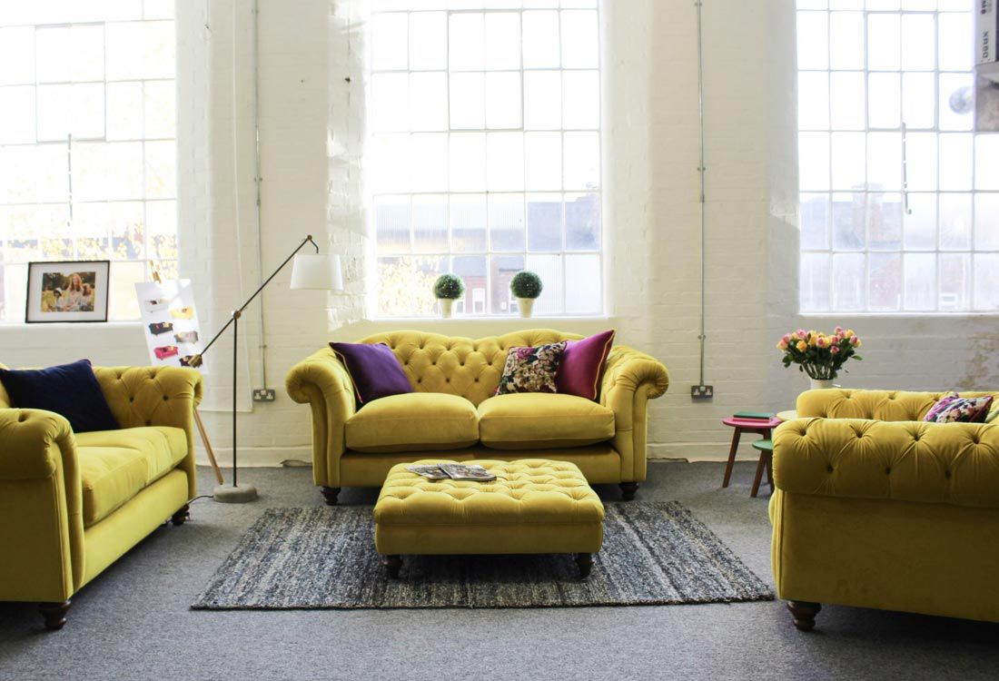 It's a little known fact that sofa giants DFS produce much of their furniture at their workshops in Derbyshire, Nottinghamshire and Yorkshire, including our new range of sofas, armchairs and footstools that feature our much-loved prints