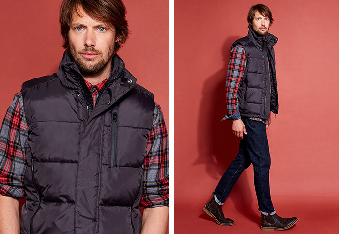 Casual gilet styling - men