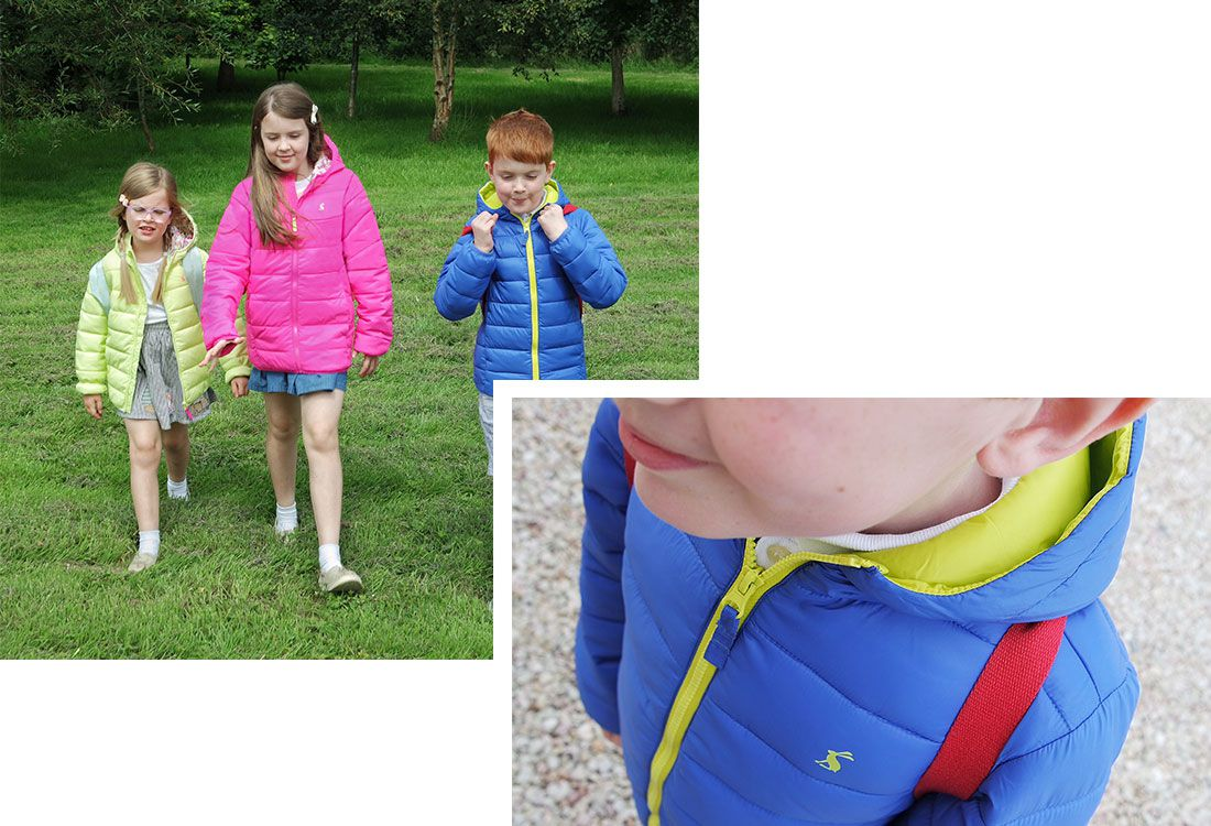 Bloggers test Joules back to school raincoats