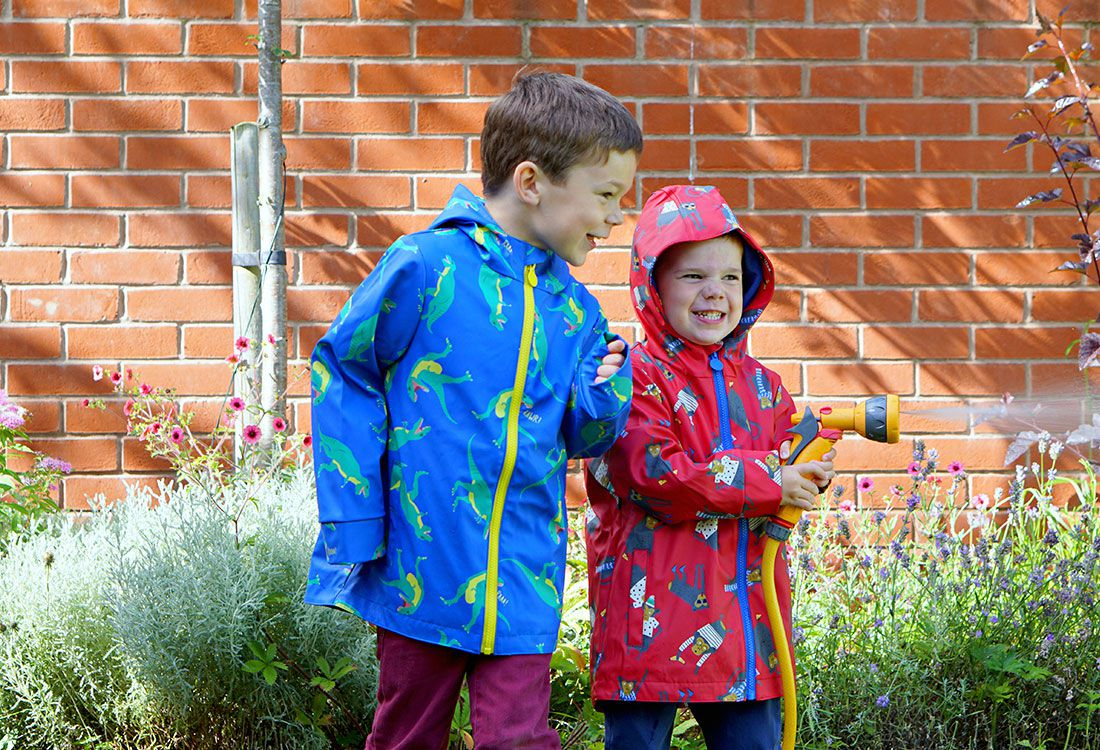bloggers test out Joules back to school raincoats