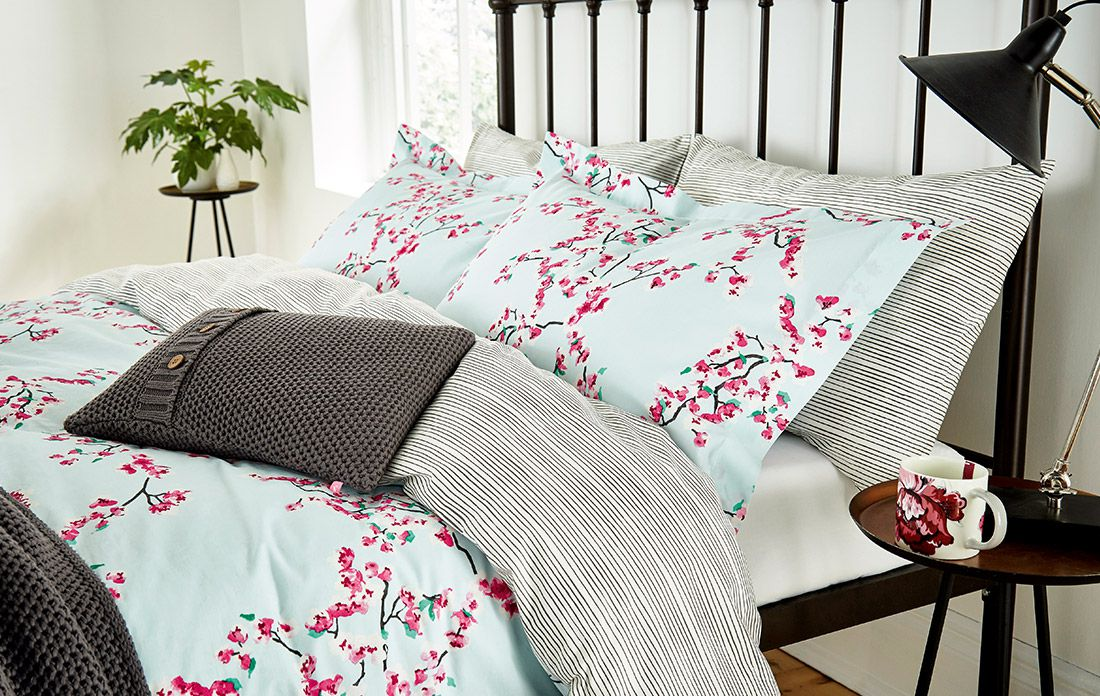 printed bedding from Joules