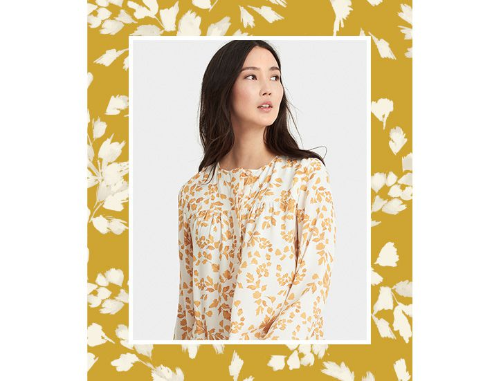 Joules floral tunic with floral border