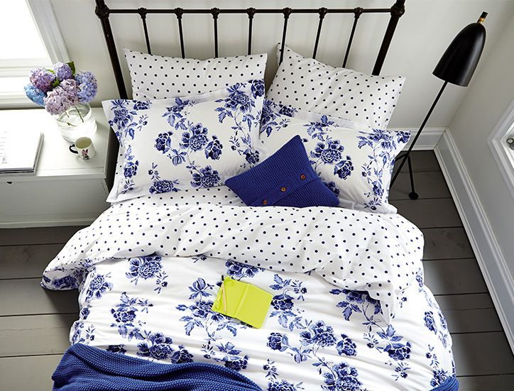 Joules printed duvet and pillows