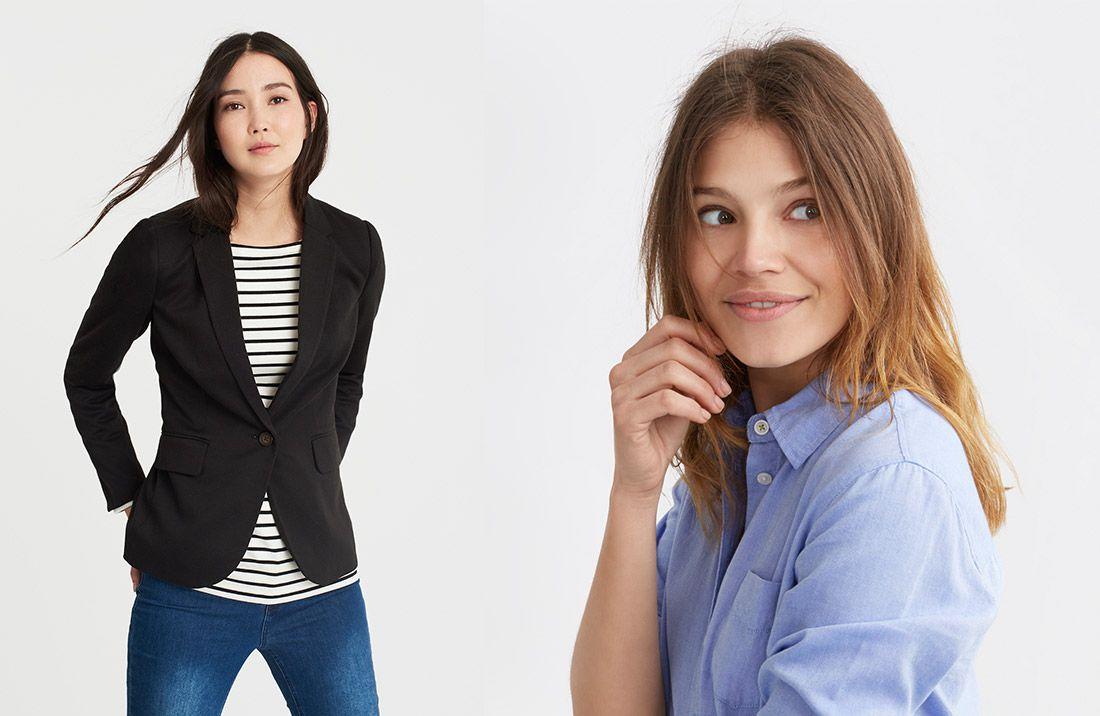 Women modelling work wear to weekend style