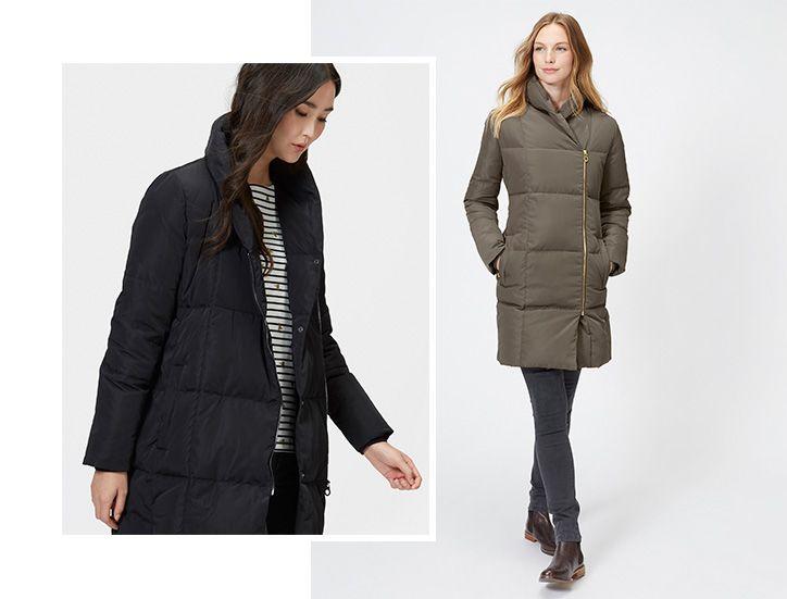 women modelling puffer jacket