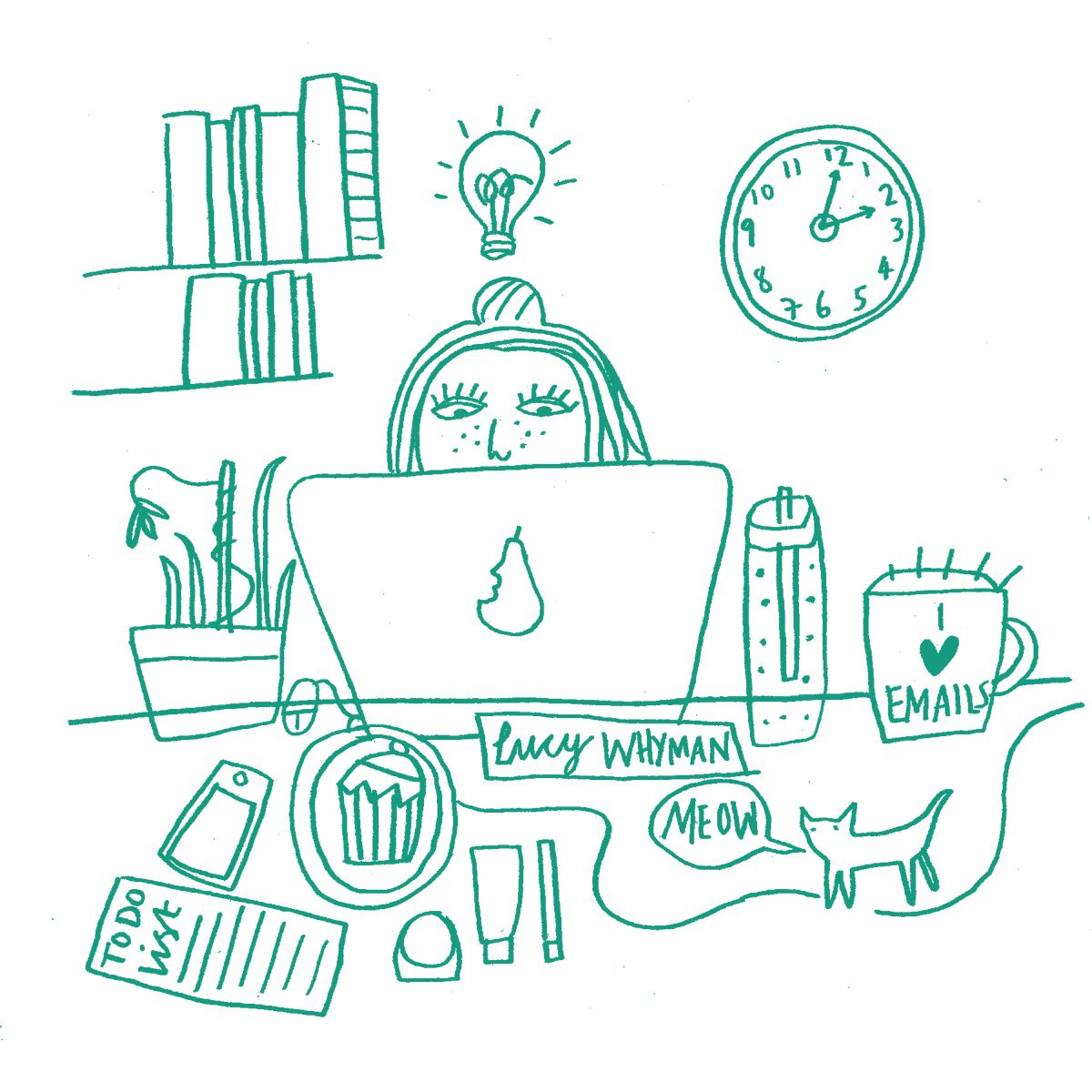 Illustration of Joules web developer