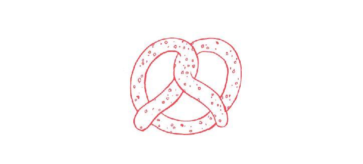illustration of traditional christmas pretzel