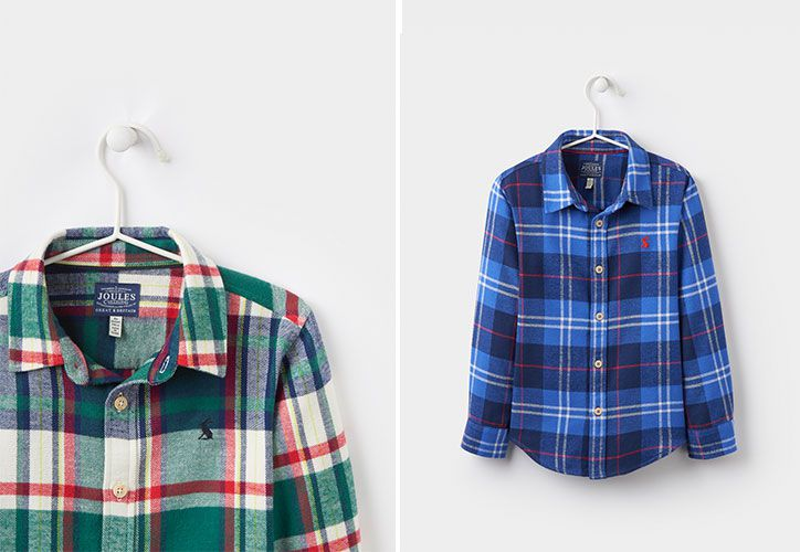 joules boys checked shirt