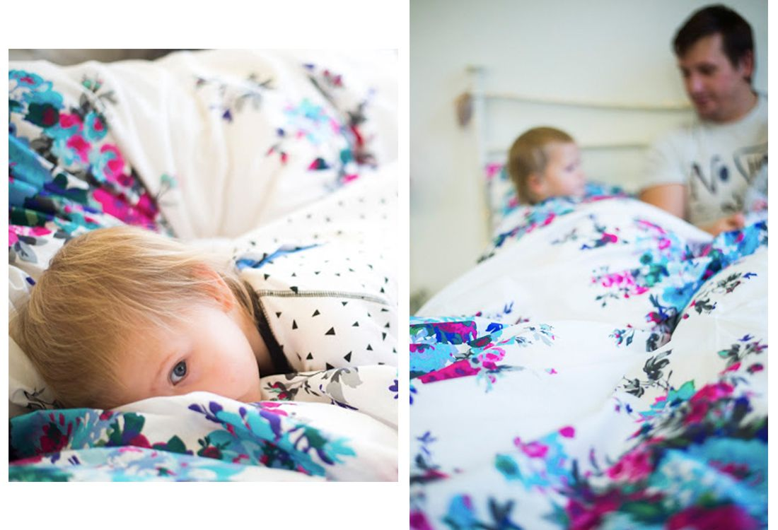 joules hand drawn floral bedding set