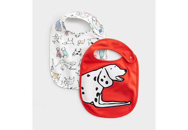 joules dog printed baby bibs