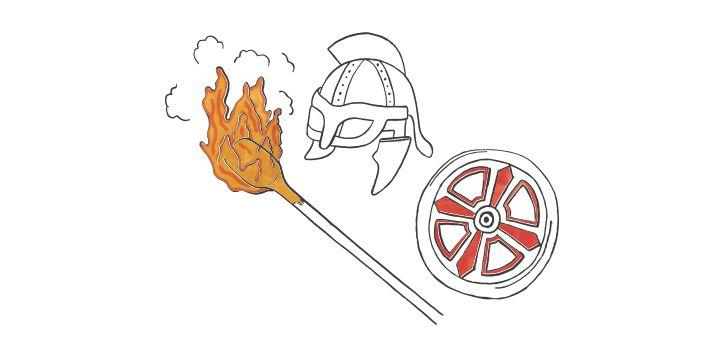 festival of fire illustration