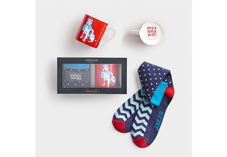 joules socks and mug gift set