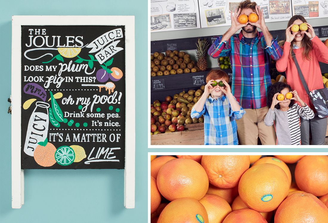 behind the scenes shoot from spring summer at fruit and vegetable shop