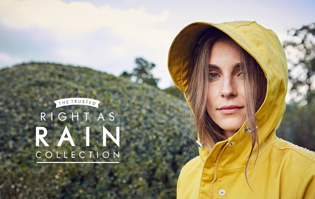 joules right as rain collection featuring yellow waterproof coastline jacket