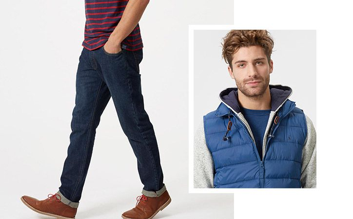 joules men's jeans and gilet