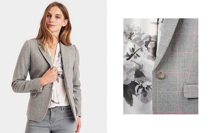 joules grey marl tailored blazer